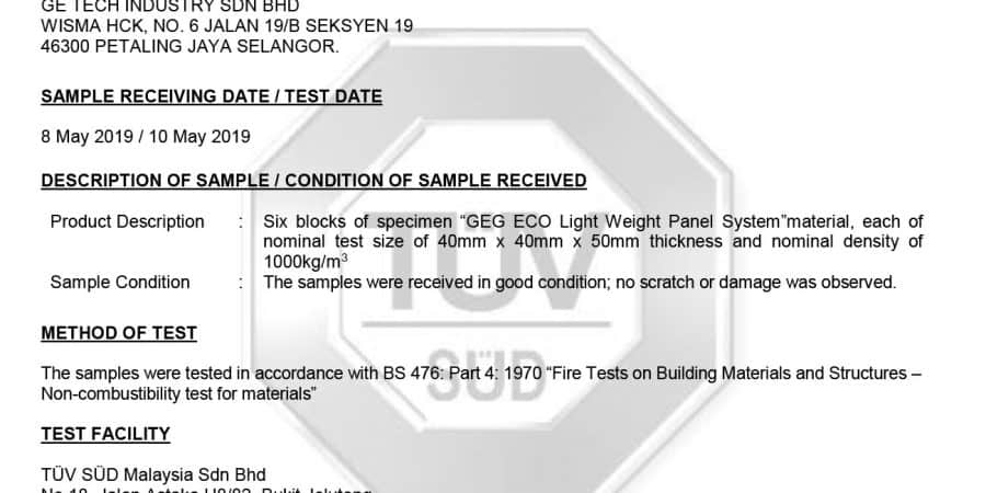 1014-official report for non combustibility 10may19