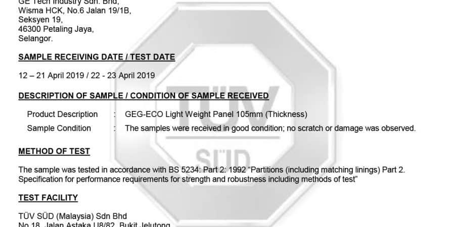 1015-Partition Test Official Report 221416313 Rev 01