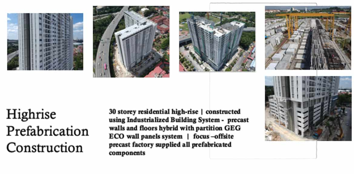 Highrise Prefabrication Constuction - IBS Industrialized Building System Projects