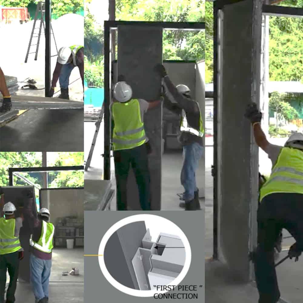 IBS Step 4 - Erect wall panel