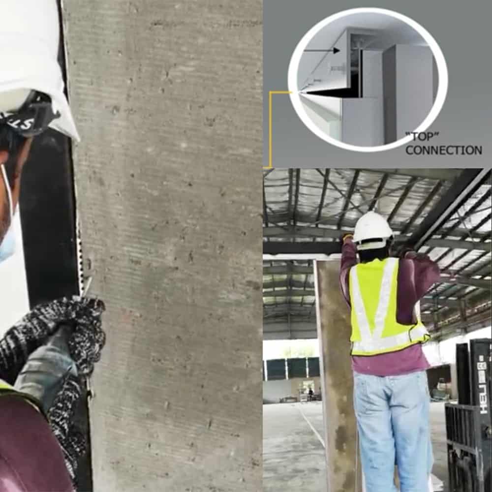 IBS Step 5 - Fix fastener on panel