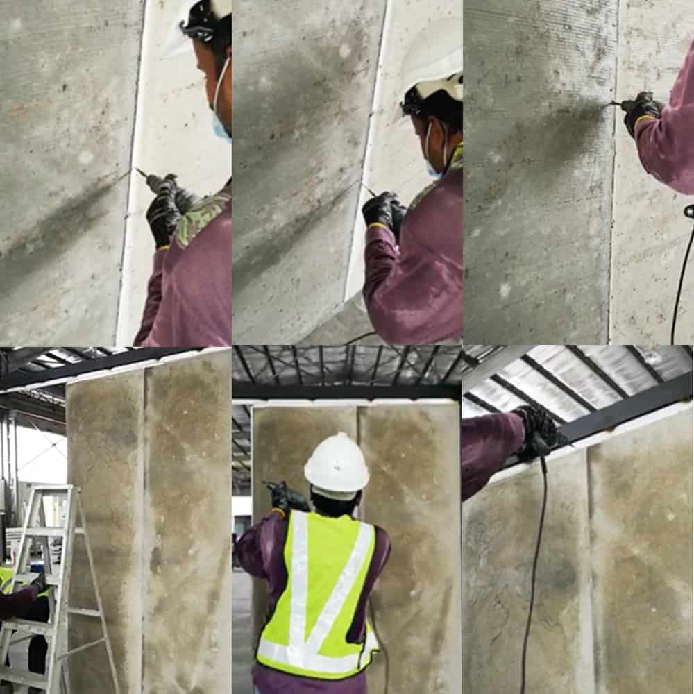 IBS Step 7 - Fix subsequent wall panels